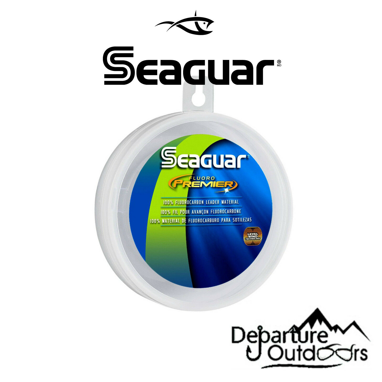 Seaguar Fluoro Premier Fluorocarbon Leader Clear Fishing Line 25 Yards