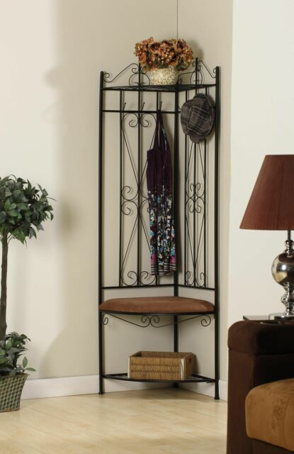 Black Metal Corner Entryway Hallway Storage Bench Hall Tree Coat Rack For Sale Online Ebay,New York City Wedding Venues With A View