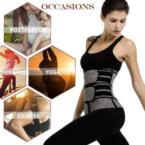 Women Waist Trainer Neoprene Belt Sauna Sweat Shapers Tummy Control Indoor Sport