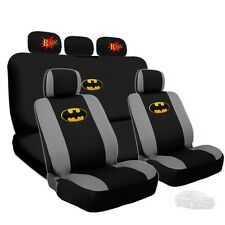 Batman Deluxe Seat Covers and Classic BAM Logo Headrest Covers For Kia