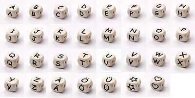würfel für Schnullerketten Buchstaben Speichel und Schweißecht