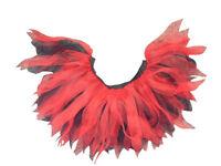 Neon Red  Black 4 Layer Tutu Halloween Witch Devil 80s Fancy Dress Hen Party