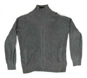 Marks-amp-Spencer-Grey-Cotton-Mens-Cardigan-Size-L