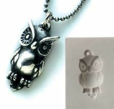 PMC Silver Clay Jewelry Push Mold Owl Pendant Mould