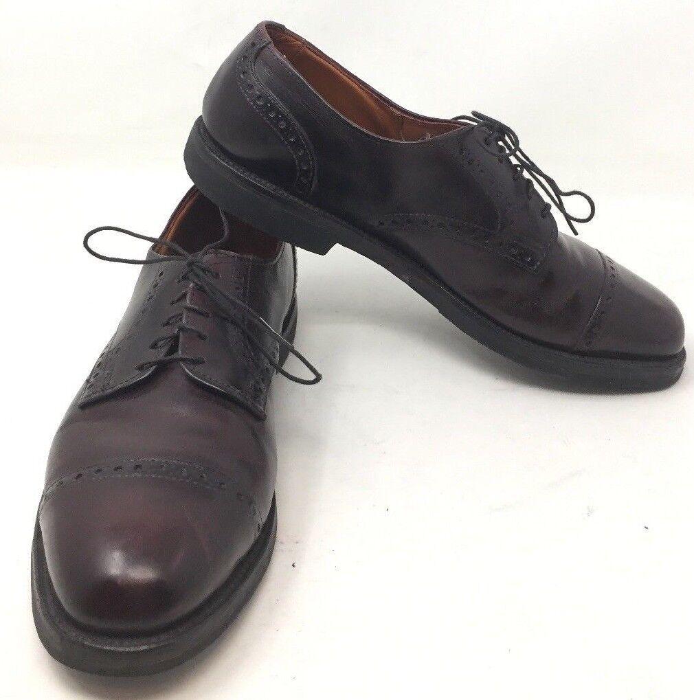 Allen Edmonds Vibram Comfort Derby Orthotic Brogue Brown Cap Toe shoes 8.5 A B5A