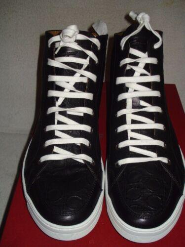 8031895576266 100neuf 9 Men Haut Chaussuresbaskets New D Ferragamo Ganicni Noir 5 Ok Nous Qhdtsr