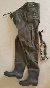 Made-in-USA-Red-Ball-Adirondack-Insulated-Chest-Waders-Size-10-with-Box