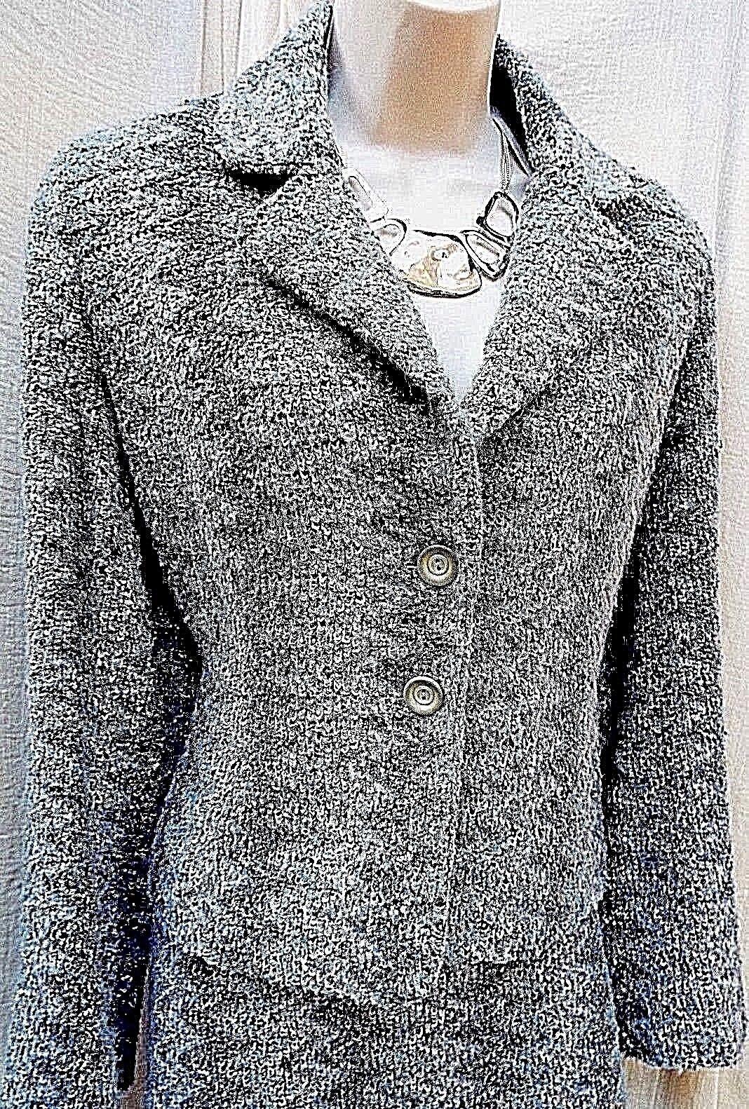 MICHEL MICHEL MICHEL AMBERS Tweed Wool & Silk Blend 2 Pezzi Giacca e Gonna SZ 12 Grigio Mix 0ff22b