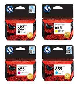 Image is loading NEW-Genuine-HP-4pack-Ink-Cartridge-655-Combo-