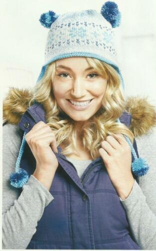 KNITTING PATTERN FOR A COSY LADIES SKI HAT IN FAIR ISLE PATTERN