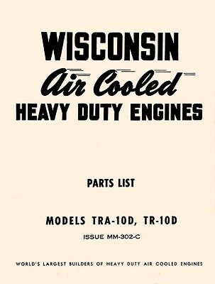WISCONSIN TRA-10D TR10D Air Cooled Engine Parts Manual | eBay | Wisconsin Engine Parts Diagram |  | eBay