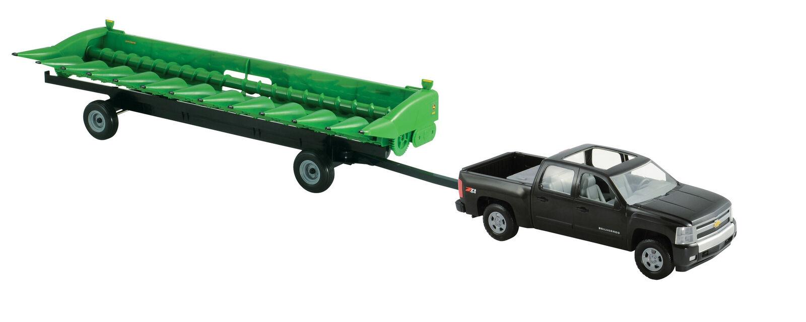 ordene ahora los precios más bajos Ertl Granja Escala 1 16 Chevy Pickup Pickup Pickup Grande con Cabeza de maíz John Deere 612C & Cochero de encabezado  seguro de calidad