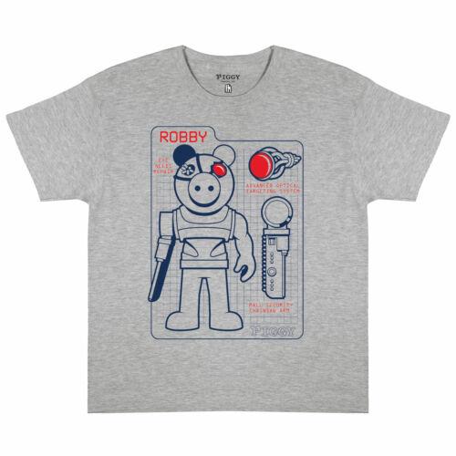 Piggy Robby Tech Specs Garçons T-shirt Gris Heather 12-13 ans