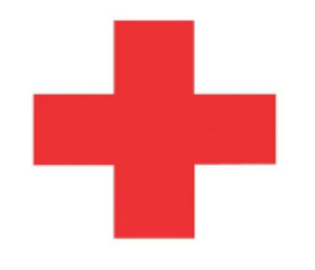 Red Medical Cross Decal Sticker Vinyl Car Window Laptop Glass Wall