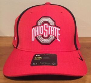 check out ae2e0 a3963 Image is loading NIKE-OHIO-STATE-BUCKEYES-Red-NCAA-DRI-FIT-