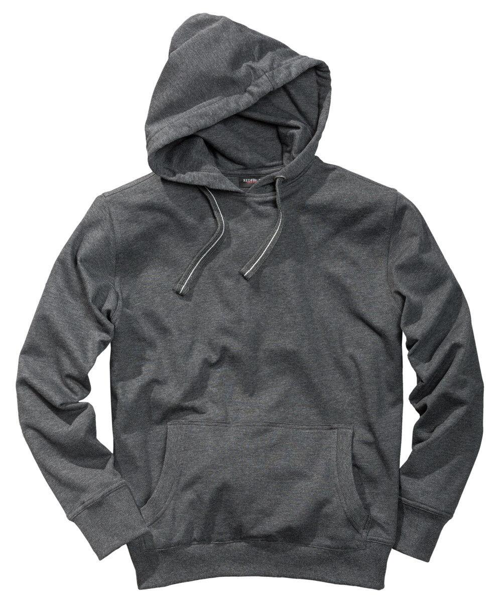 Sweatshirt mit Kapuze in Herrenübergröße von ROTfield in anthra. melange