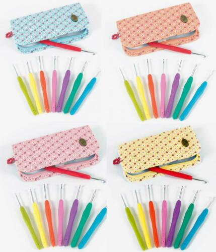 DMC CROCHET HOOKS WITH POUCH AVAILABLE IN 4 COLOURS