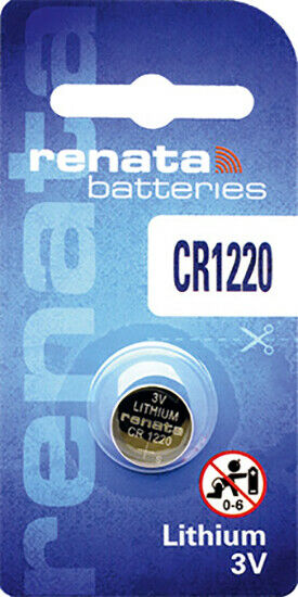 1 x Renata CR1220 Batteries, Lithium Battery 1220 | Shipped from Canada
