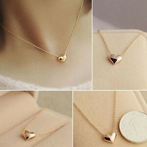 Romantic fashion women simple design chic gold chain heart love image is loading romantic fashion women simple design chic gold chain aloadofball Gallery