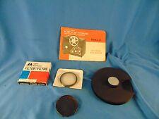 Vintage Kestone movie projector manual  8mm film reel Hakuba filter 3 lenses