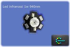 led Infrarosso 1w 940nm per Videocamera visione notturna infrared 1w 940nm