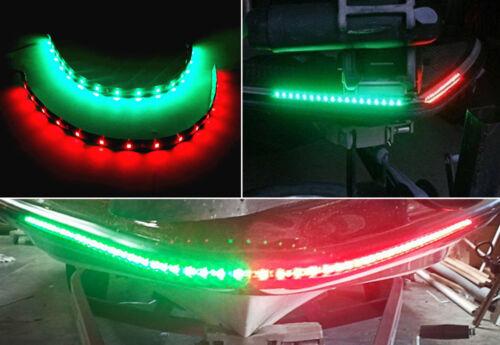 2x Red/&Green 2835 SMD 15LEDs Flexible Strip Light Waterproof Car Turn Signal 12V