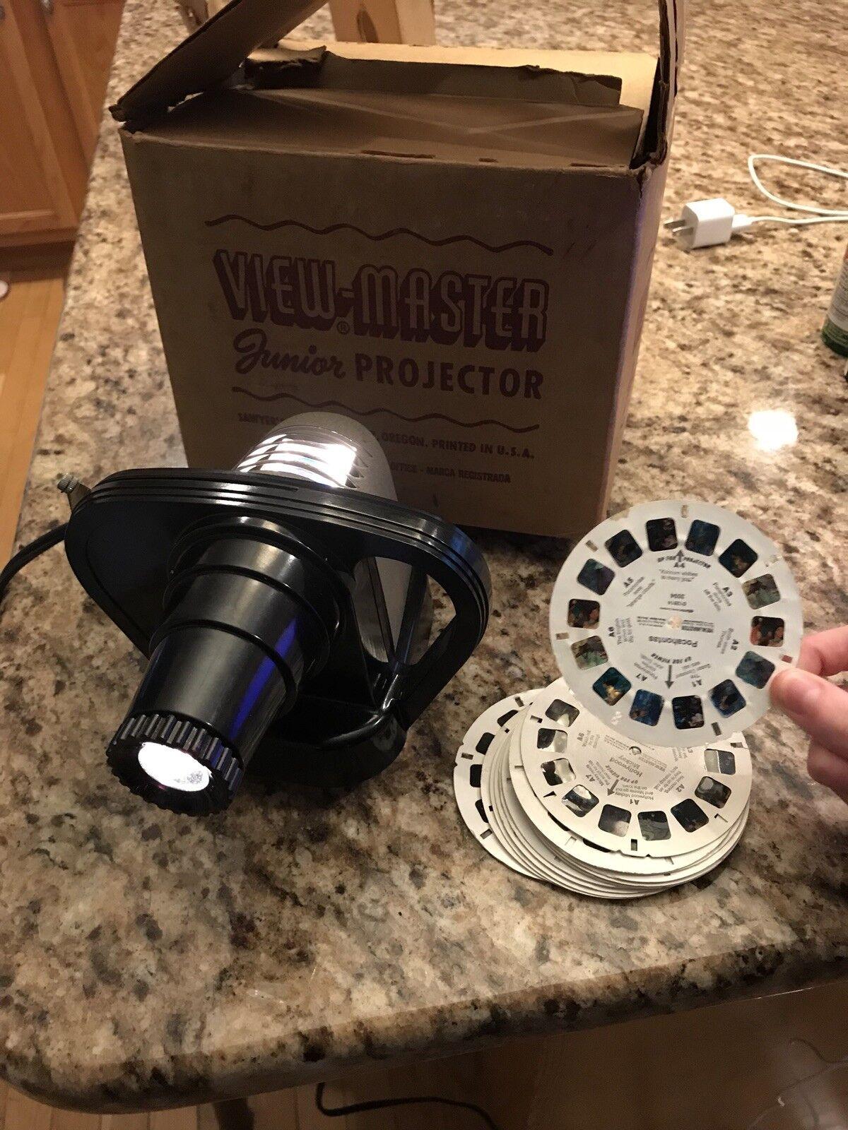 Viewmaster junior projektor vintage 50er 50er 50er bakelit arbeitet, mit rollen bae200