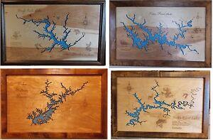 Lake Wall Art stunning wooden 2d laser cut, engraved lake maps wall art hanging