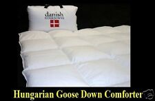 QUEEN SIZE HUNGARIAN GOOSE DOWN COMFORTER - EXTRA WARM 850-900 FILL POWER