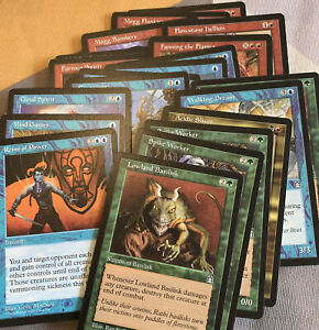 Mtg Job Lot 20 Stronghold Cards Vintage Magic The Gathering Good Condition