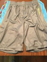 Men's Flow Society Lacrosse Shorts Pyramids Pieced Lax Light Gray Size S