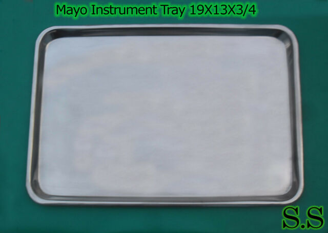 Mayo Instrument Tray 19X13X3/4 Surgical Dental veterina