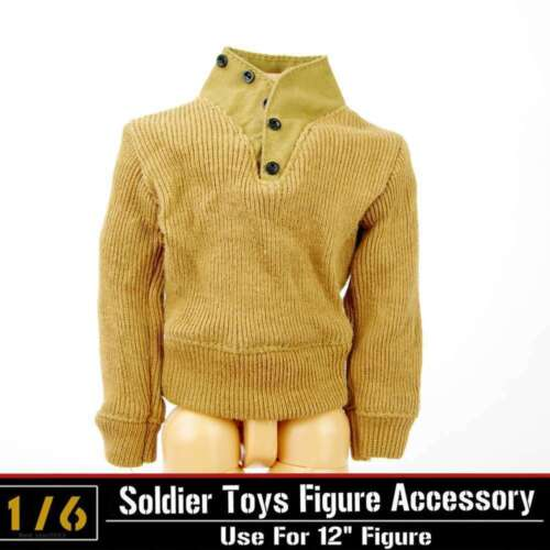 """Dragon DML1//6 Toys WWII US Military Sweater Jacket Coat Clothes Fit 12/"""" Figure"""