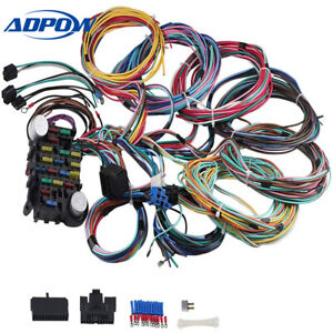 21 CIRCUIT UNIVERSAL WIRING HARNESS KIT 18 FUSES FIT FOR STREET ROD WIRING    eBay