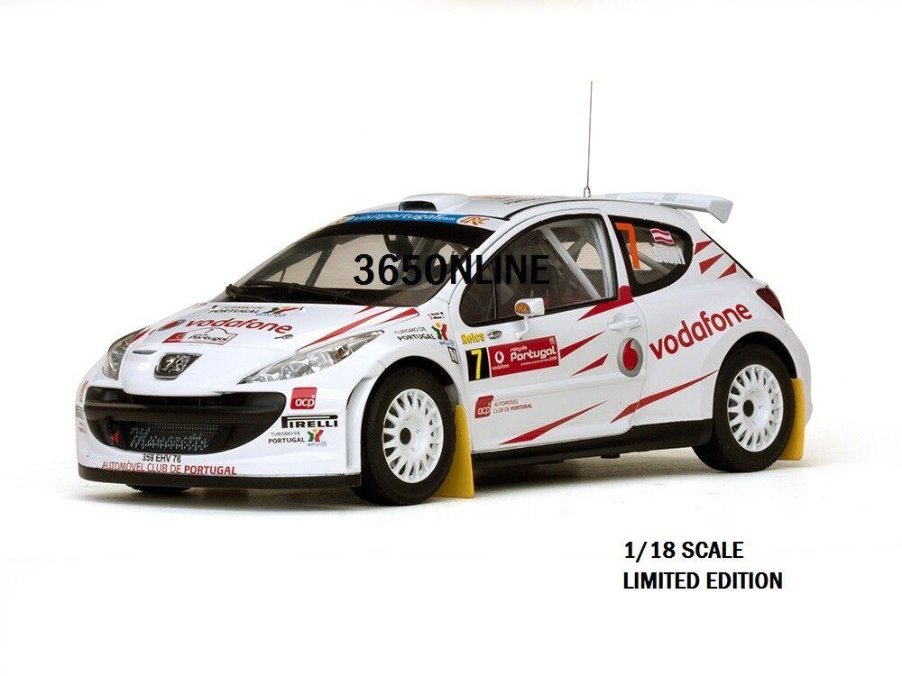 SUNSTAR Peugeot 207 S2000 M-Stohl,  I-Minor,  Rally-De-Portugal-2008. 1 18 SCALE