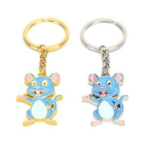 Mouse-Rat-Keyring-Keychain-Metal-Key-Holder-Charms-Souvenir-Bag-Pendant-Gi-kl