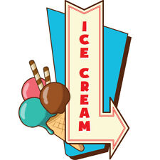 Ice Cream 4 Concession Decal Sign Cart Trailer Stand Sticker Equipment
