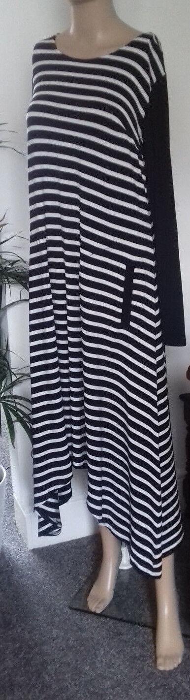 Joseph Ribkoff 163904 Striped Long Tunic Dress Größe 12 New with Tags