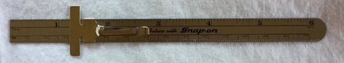 """Snap-On Tools 6"""" Metal Slide Rule With Metric Equivalent Chart"""