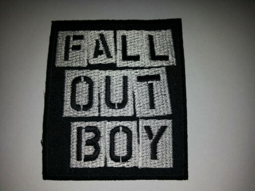 IRON ON PATCH: FALL OUT BOY a PUNK ROCK METAL MUSIC SEW ON PATRICK STUMP