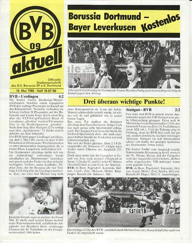 Bayer 04 Leverkusen BL 87//88 Borussia Dortmund