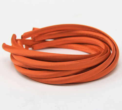6 Stück HAARREIF Satin schmal  9mm  Haarband  viele Farben   HAARSCHMUCK N