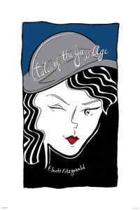 Tales-of-the-Jazz-Age-F-Scott-Fitzgerald-Face-Art-Print-Poster-24x36-inch