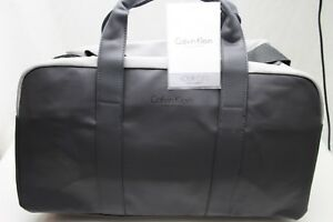 Grey Leather Duffle Bag New Authentic