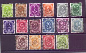 Bund-1951-Posthorn-MiNr-123-138-rund-gestempelt-Michel-50-00-553