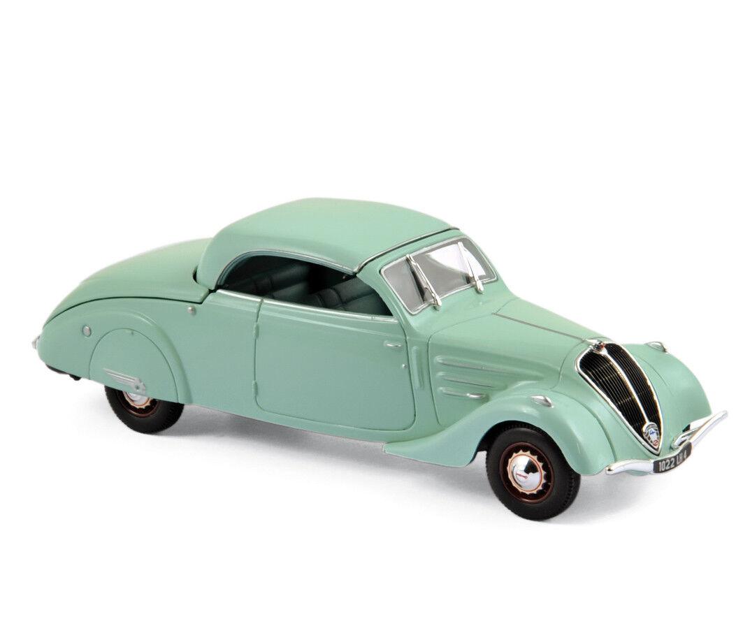 Peugeot 402 Eclipse 1937 VERT TOIT pour ouvrir 1 43 Norev NOUVEAU & NEUF dans sa boîte 474218
