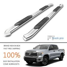 "For 2007-2017 Toyota Tundra CREW MAX 4"" Oval Bent Nerf Bars Step Running Boards"