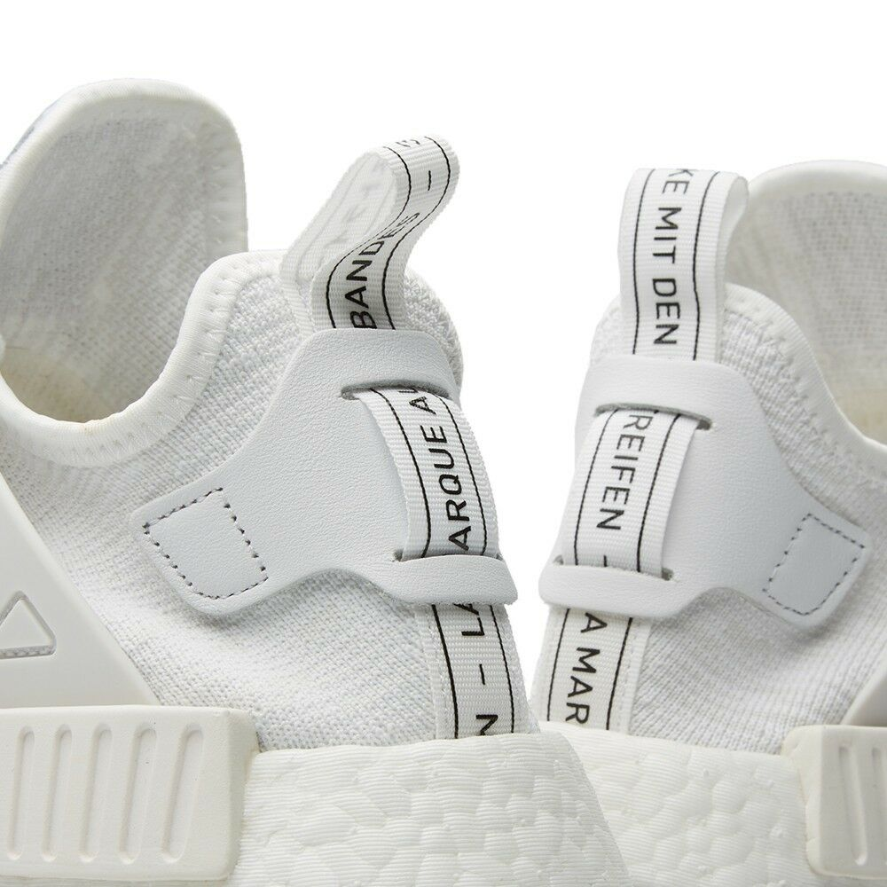 Adidas originals NMD NMD NMD XR1 Primeknit Triple White BB1967 Sock-Like Vintage PK DS 1f09dc