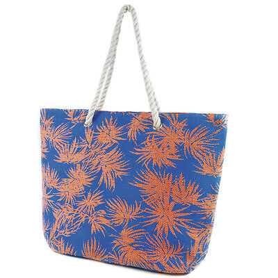 Ladies Womens Summer Weave Shoulder Tote Day Bag Beach Shopping Zipper Handbag