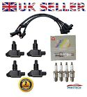 MAZDA RX8 RX 8 RX-8 4 x IGNITION COIL PACKS & x4 NGK SPARK PLUG & SILICONE LEADS
